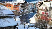 Moena: groesste Talgemeinde am Fluss Avisio.