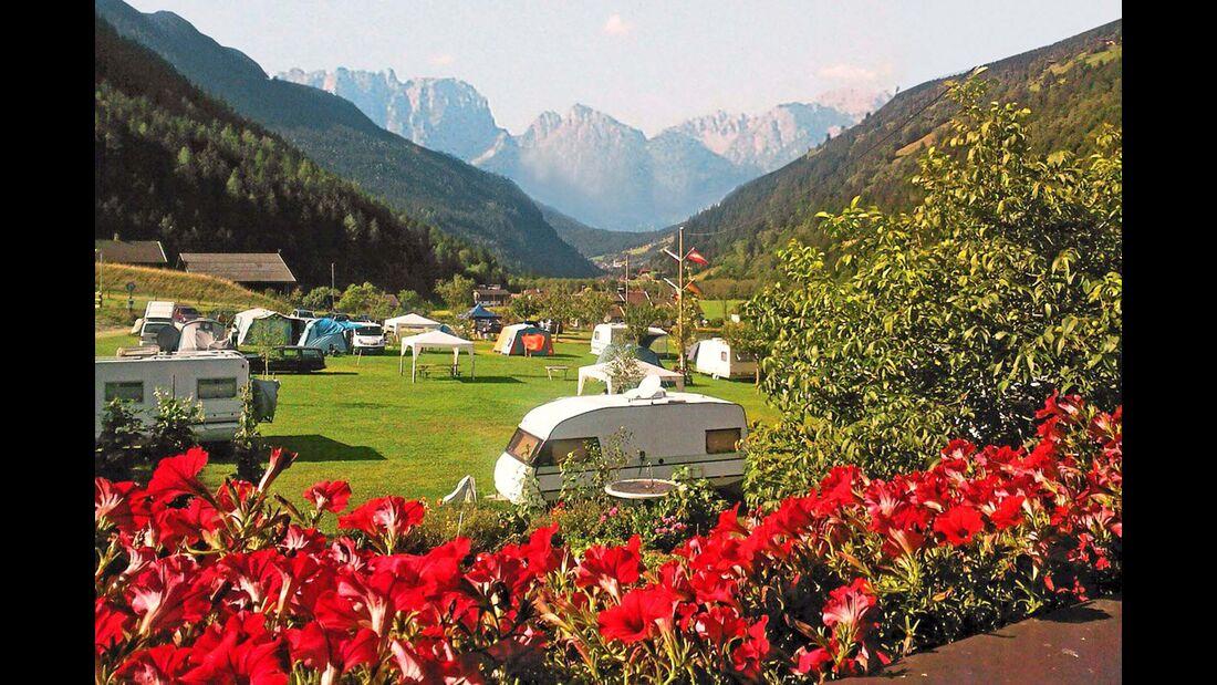 Mörtschach: das Campinggelände am Lindlerhof.