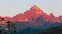 Monviso-Gipfel von Paesana im Po-Tal