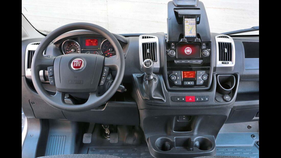 Motor und Sechsgang-Schaltung harmonieren im Fiat nach wie vor.