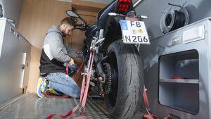 Motorrad-Sicherung Campingbus