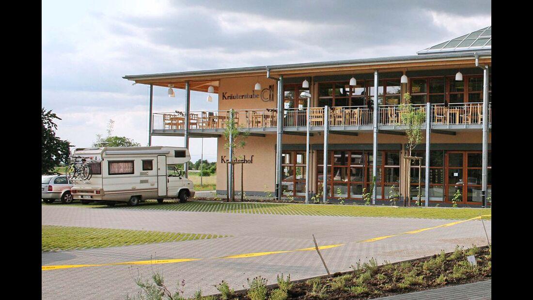 Müllheim: der Stellplatz am Kräuterhof im OT Hügelheim.