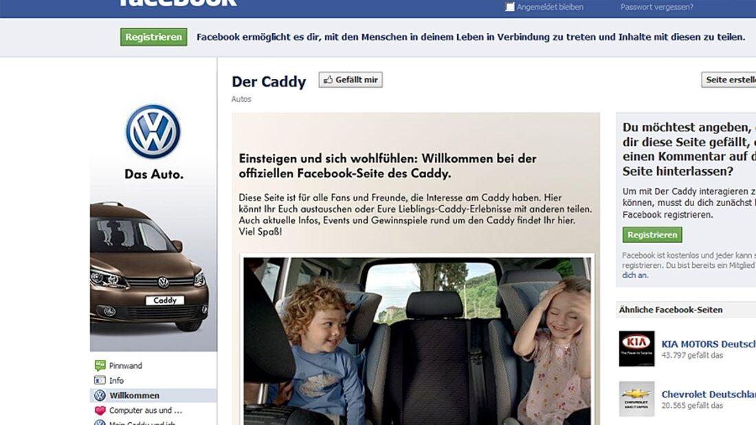 Nach einer Gewinnspiel-Aktion auf Facebook verloste Volkswagen einen Caddy an ein Paar mit baldigem Familiennachwuchs