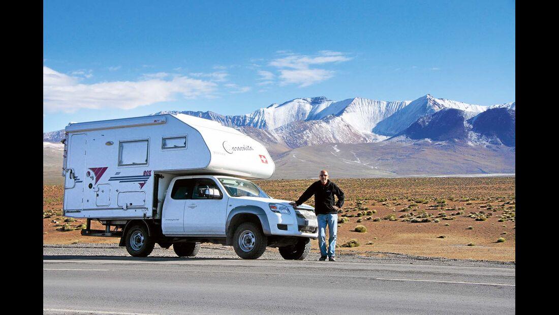 Nationalpark Lauca, Chile: Berge und Vulkane bis zu einer Höhe von 6300 Metern umgeben den Park.