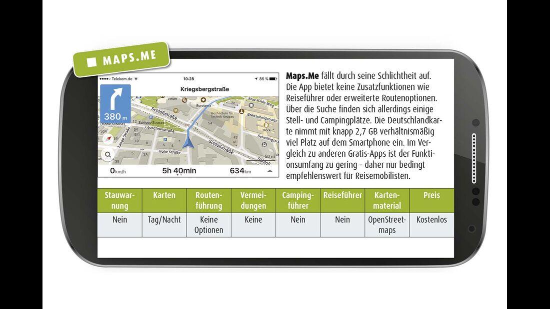 Navigations-Apps Maps.Me