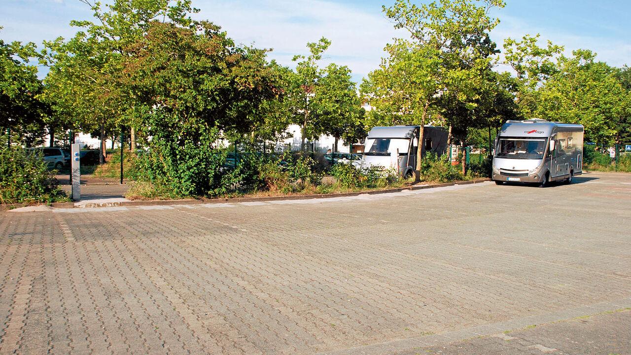 Neuer Stellplatz in Mainz - Platz für 9 Wohnmobile.  Promobil