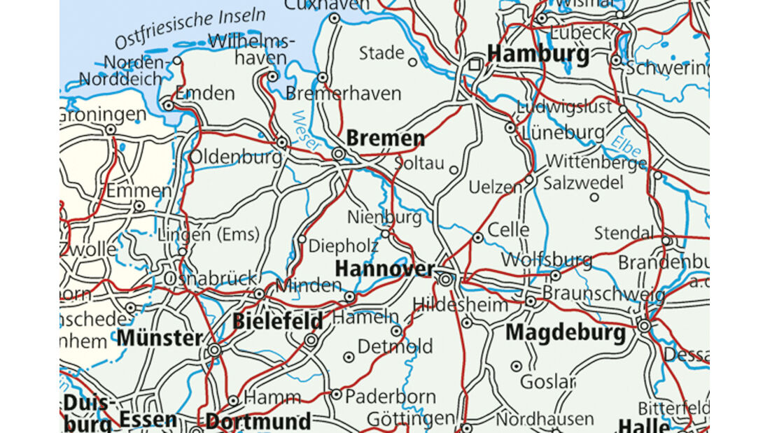 Niedersachsen, Karte
