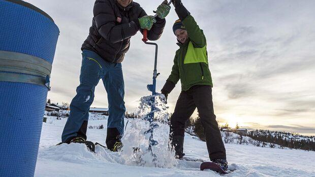 Norwegen Eislaufen