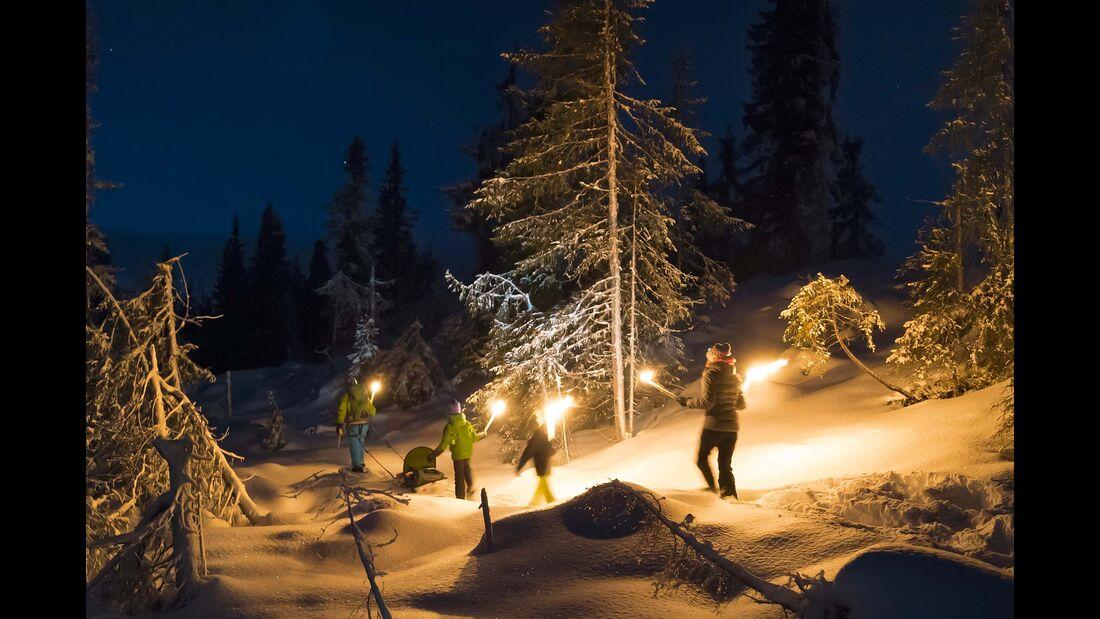 Norwegen Wanderung im dunkeln
