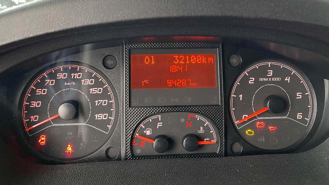 Ölwechselintervall Fiat Ducato Kombiinstrument