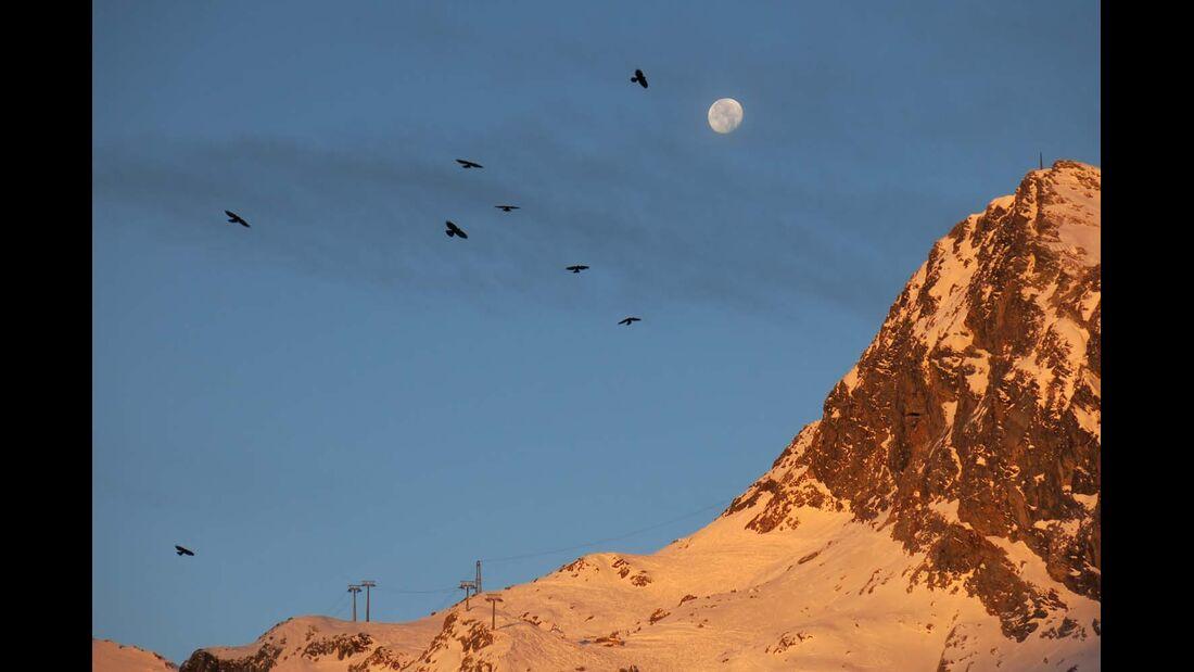 Ötztal, Alpen, Sonnenaufgang