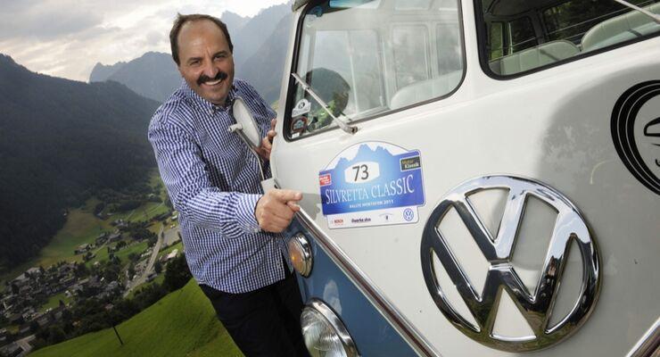 """Oldtimer-Rallye """"Silvretta Classic"""": Johann Lafer mit Bulli am Start"""