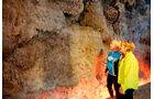 Original-Lavawand im Vulkanhaus Strohn