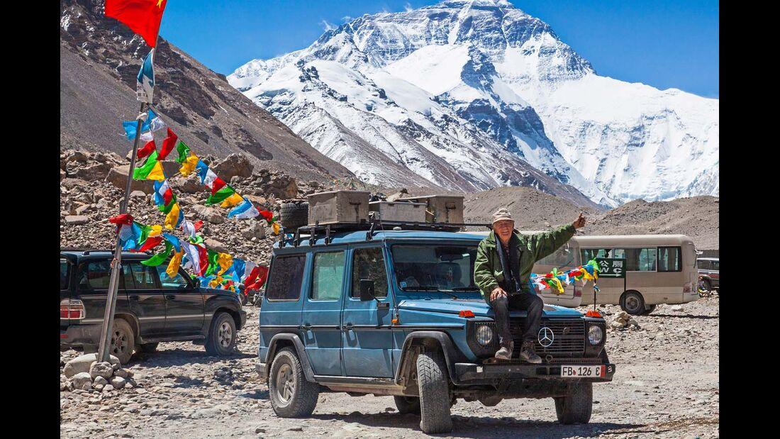 Otto auf dem Dach der Welt, im Basislager des Mount Everest.