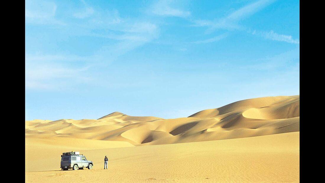 Otto in der libyschen Sahara im Jahr 2004.