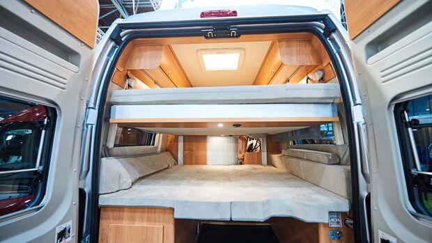 PÖSSL/GLOBECAR Flexibel einsetzbar sind die Revolution-Modelle mit elektrisch höhenverstellbarem Bett.