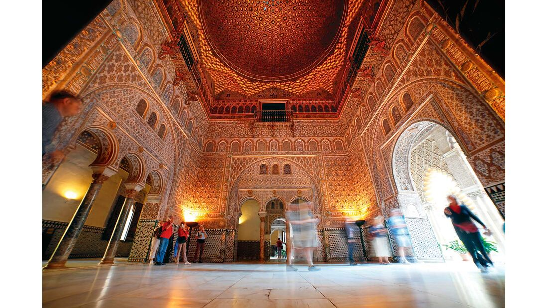 Palast Reales Alcázares in Sevilla
