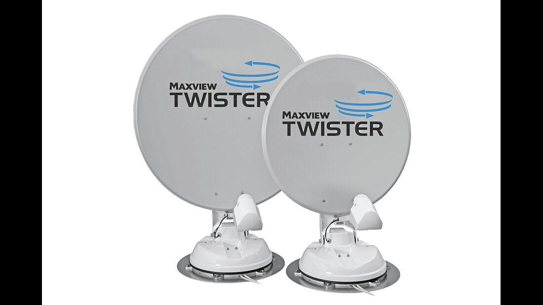 Per Handkurbel wird die Maxview Twister gedreht.