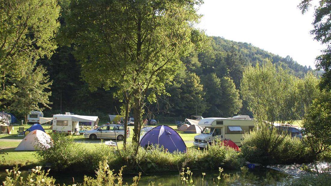 Pottenstein Camping  in der Fränkischen Schweiz