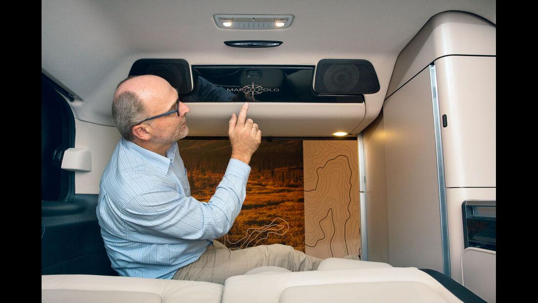 Premiere: Mercedes Marco Polo, Dachstauschrank