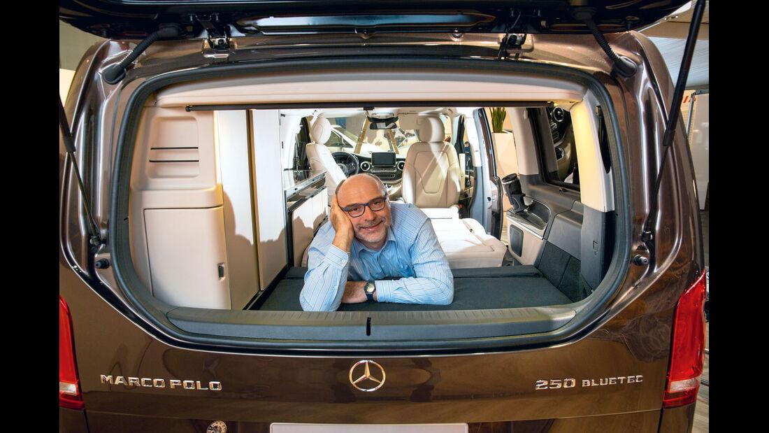 Premiere: Mercedes Marco Polo, Heckfenster