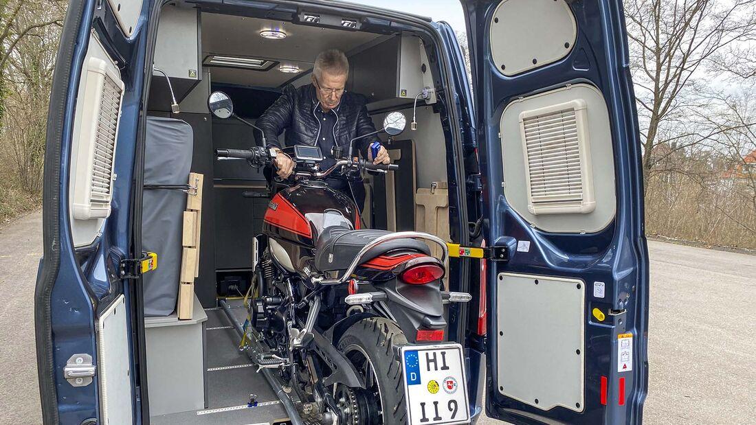 Premiere Motorrad-Camper