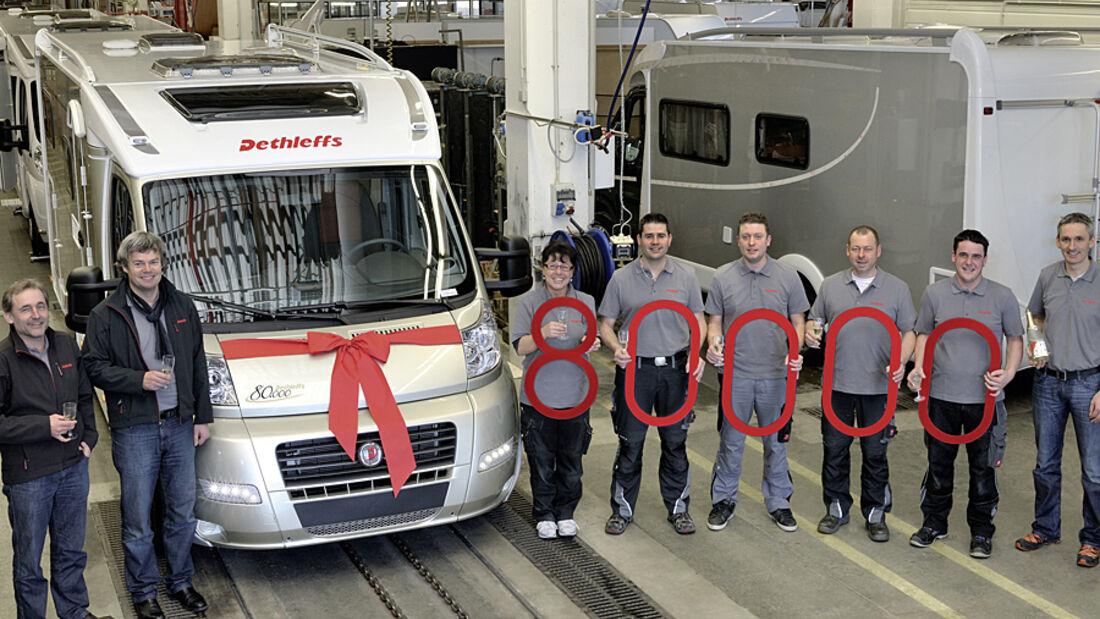 Produktionsjubiläum: 80.000 Reisemobile von Dethleffs