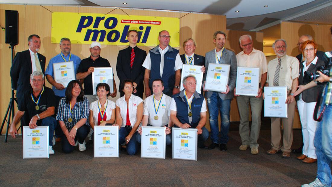 Promobil Stellplatzwahl 2011