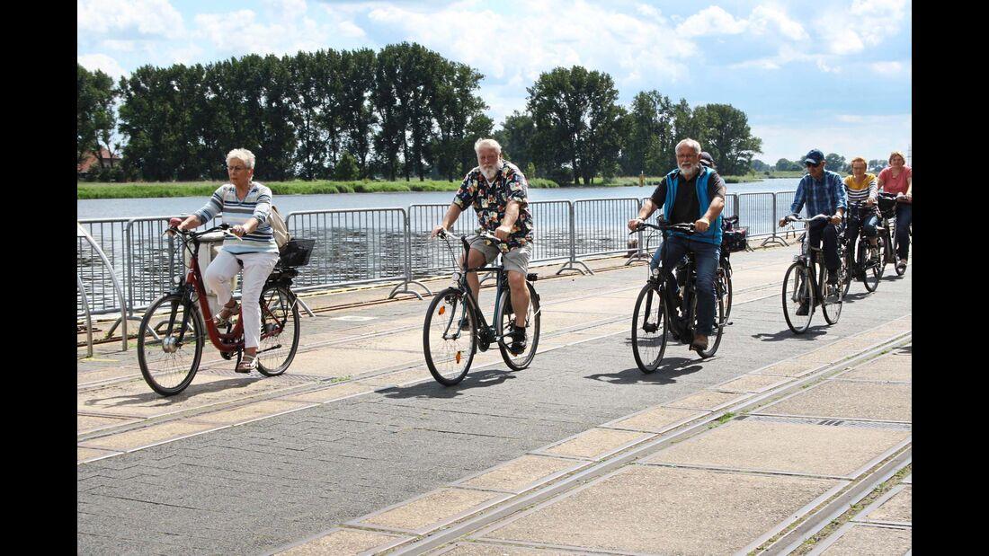 Radweg an der Weser