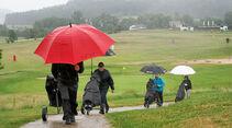 Regen und Windböen beim Golf-Cup am Finaltag
