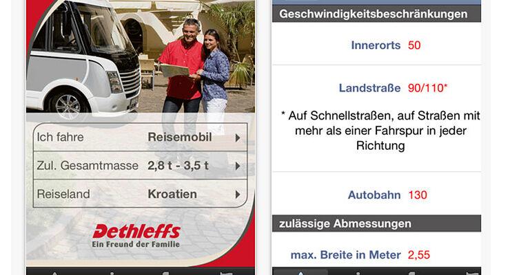 Reise-App von Dethleffs als neuer kostenloser Service