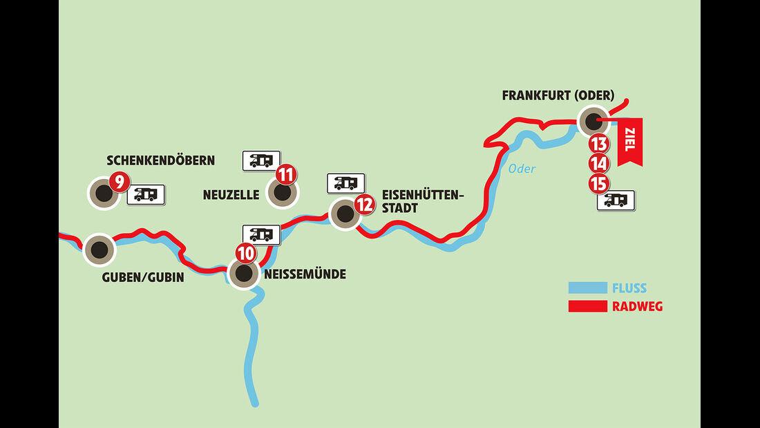 Reise-Service: Oder-Neisse-Radweg