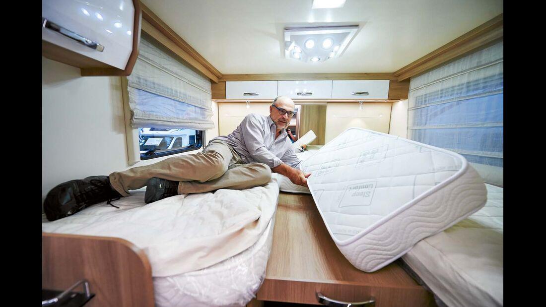 Reisemobil Auto Roller 285 P mit 2,00 und 2,05 m langen Einzelbetten