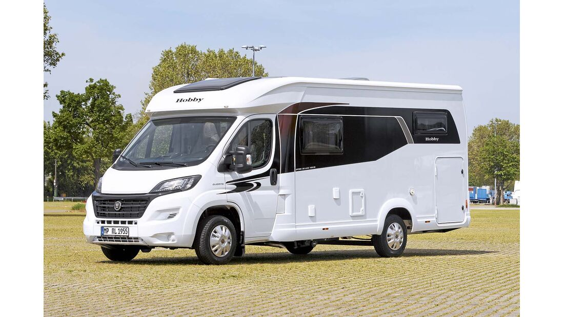 Reisemobil Hobby Optima de Luxe V 65 GE Seitenansicht