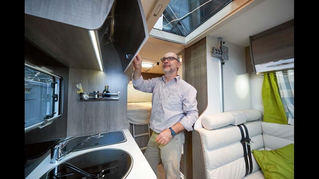 Reisemobil Pilote Galaxy 600 G mit 2,17-m-Bett und 2,00 m Stehhöhe (nicht im Bad)