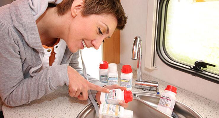 Reisemobil Tank Wasserleitungen Biofilm Multiman Multibox-Programm