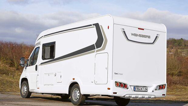 Reisemobil Weinsberg CaraCompact 600 MEG Seiten- und Heckansicht