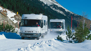 Reisemobil im Winter