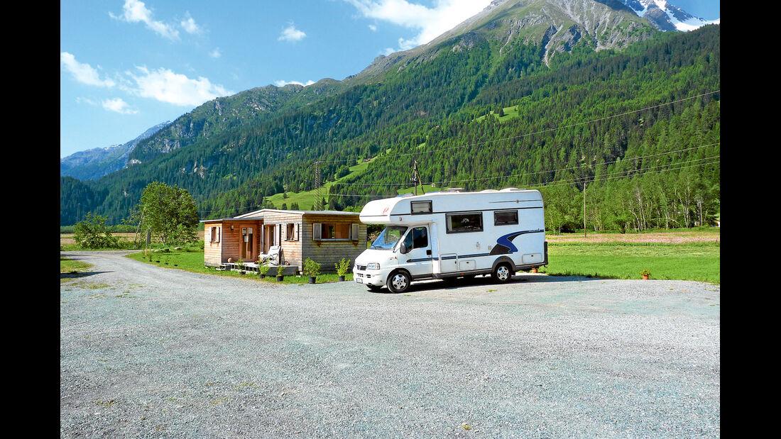 Reisemobil in den Alpen