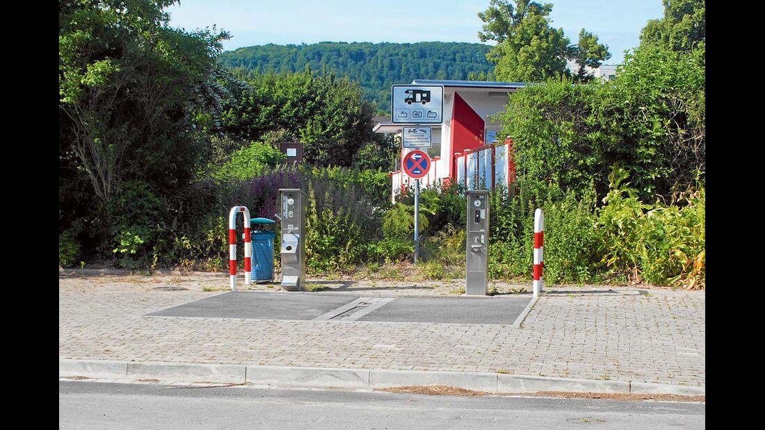 Reisemobilhafen in den Emmerauen