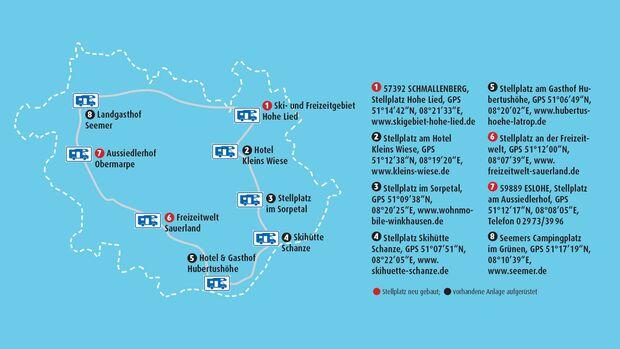 Reisemobilroute Sauerland