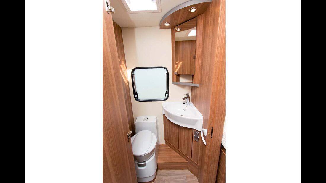 Relativ schlicht und funktional präsentiert sich der Sanitärraum