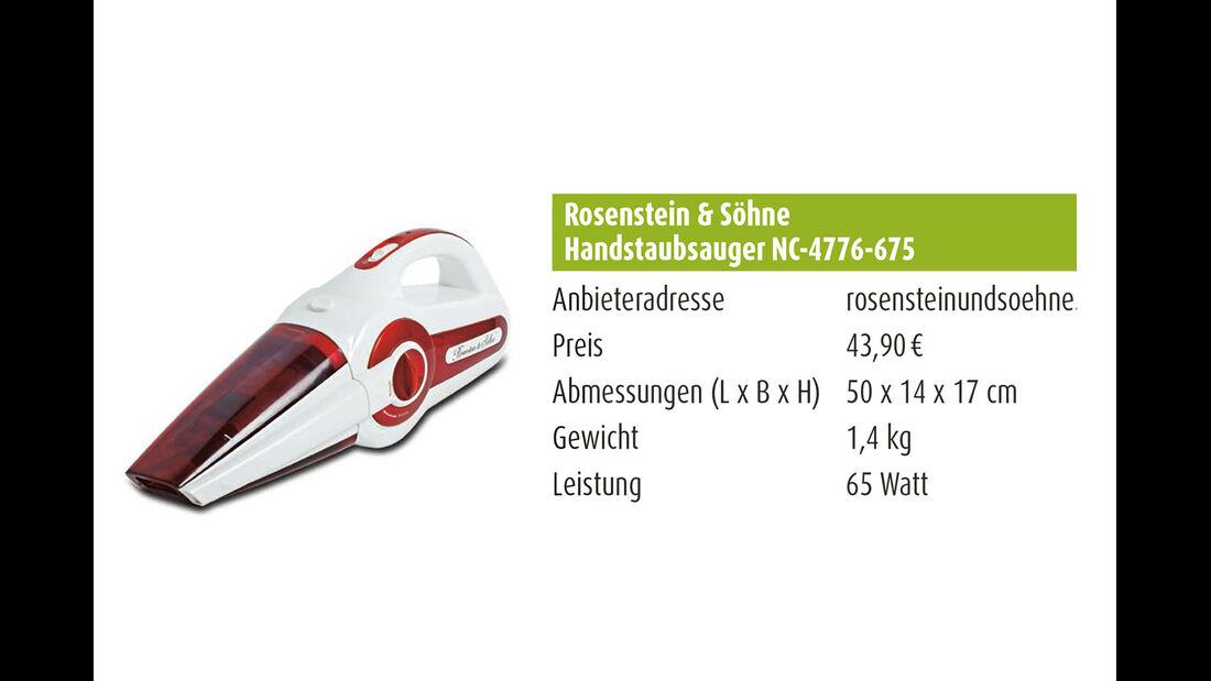 Rosenstein & Söhne Handstaubsauger NC-4776-675