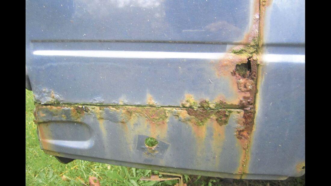 Rost ist bei manchen Kastenwagen ein Problem