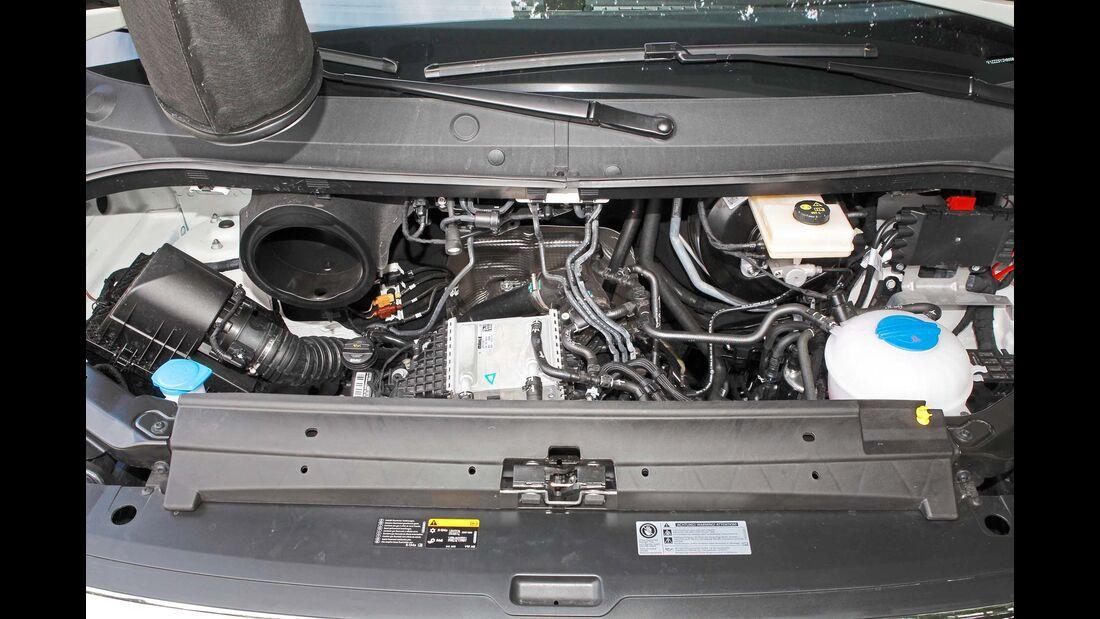 Rund ein Liter weniger Hubraum muss dem Crafter-Aggregat reichen.