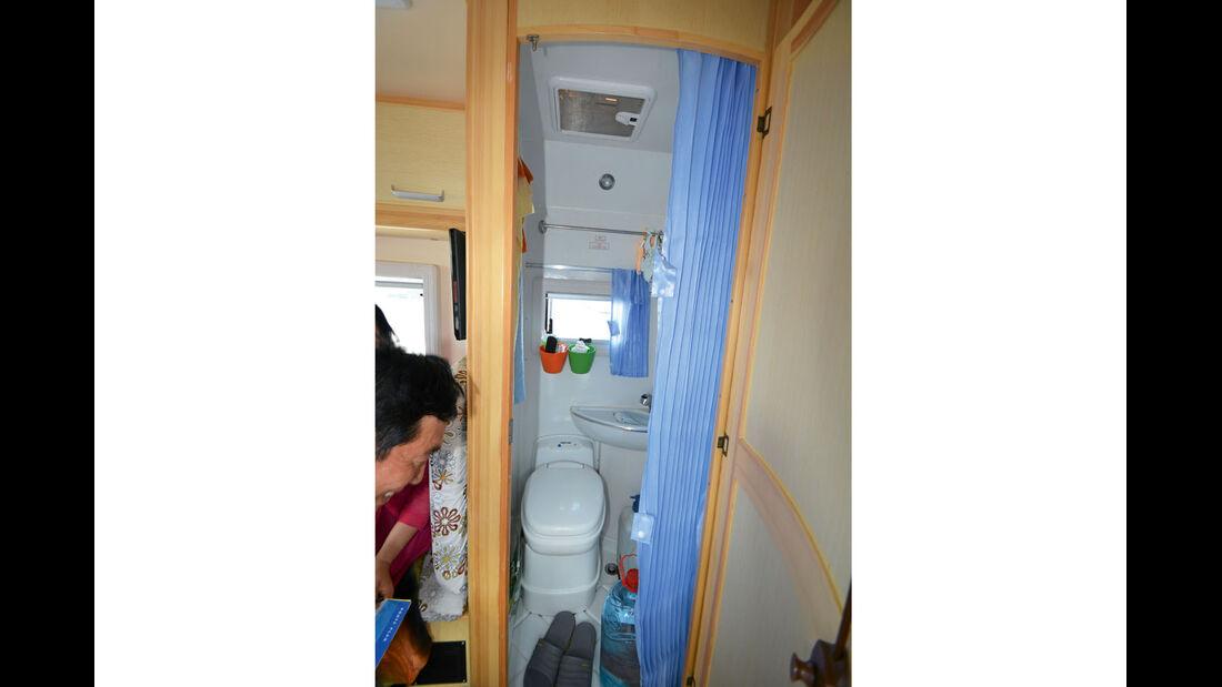 Sanitärraum auch Abstellkammer beim Great Wall
