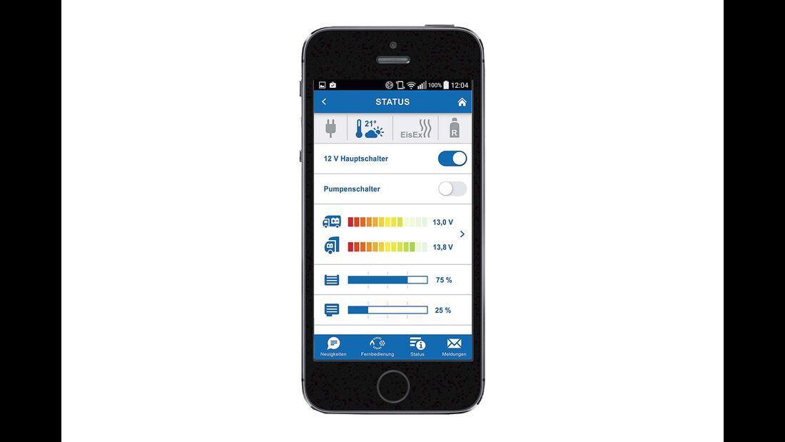 Schaufenster Temperaturregelung Handy