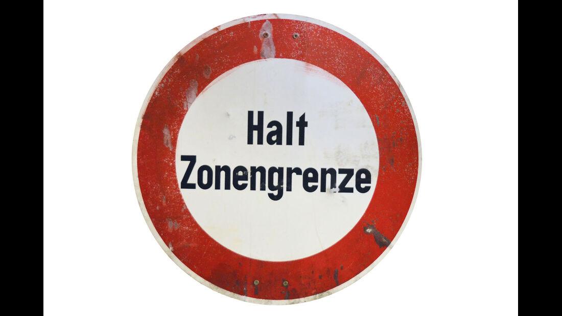 Schild Zonengrenze
