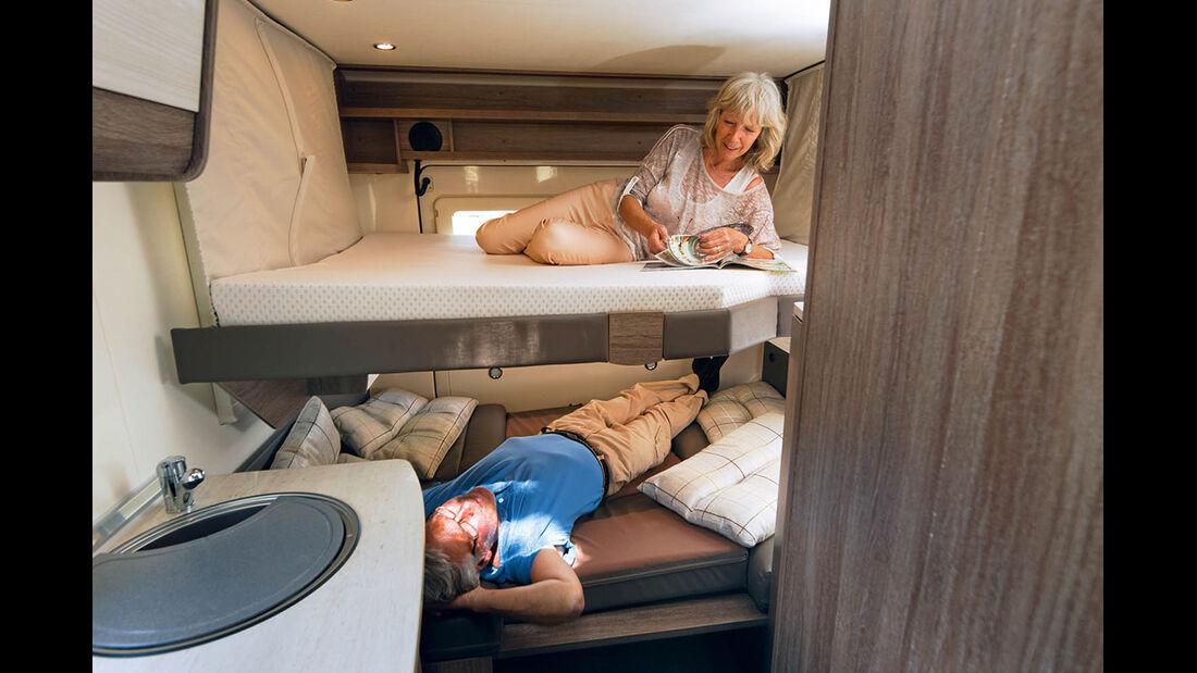 Schlafen auf zwei Ebenen