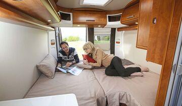 Schlafzimmer im Malibu Van 600 LE